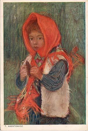 Portret dziewczynki pocztówka